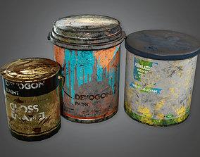 Paint Buckets TLS - PBR Game Ready 3D model
