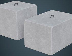 Concrete Barrier 4A 3D asset