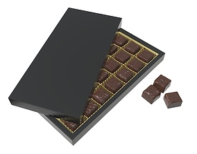 3D Blank sweets package with chocolate candy mock up