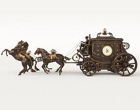 3D model coach clock