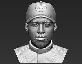 Lewis Hamilton bust 3D printing ready stl obj