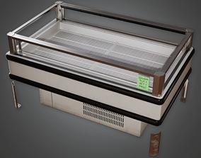 SAM - Commercial Open Top Freezer - PBR Game 3D model