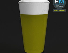 3D model Glass with beer 2