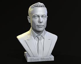 Elon Musk bust 3D print model