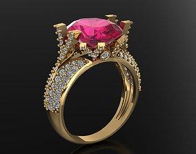 3D print model wedding luxury women ring