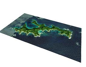 Island in the Virgin Islands 3D
