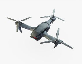 3D asset Sci-Fi Drone Animated