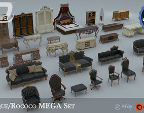 3D model Baroque Rococo Style Mega Collection