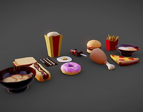 3D asset Low Poly Food