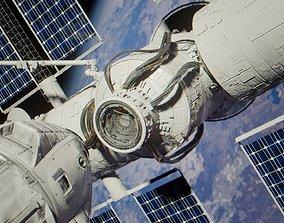 Docking spaceship animation 3D asset