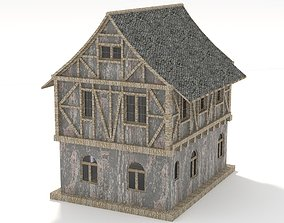 3D model Medieval Home green