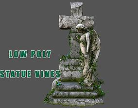 Statue Vines 03 - Low Poly 3D asset