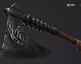 Axe Viking Lion 3D asset game-ready