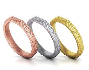 Twig Wedding ring 3mm wide Wood Wedding 3D printable model