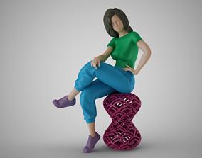 3D print model Scowling Woman
