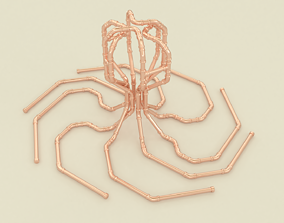 Copper pipes octopus decoration houseware 3D