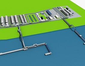 3D model LNG Terminal Port