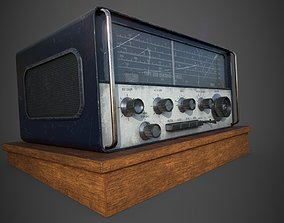 Old radio 3D model low-poly PBR