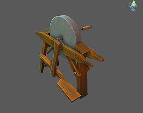 3D asset Old Grind Stone