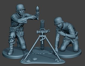German soldiers ww2 Granatwerfer G5 3D print model