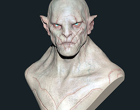 Azog Bust - Colored 3D printable model