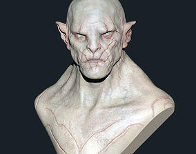 3D printable model Azog Bust - Colored