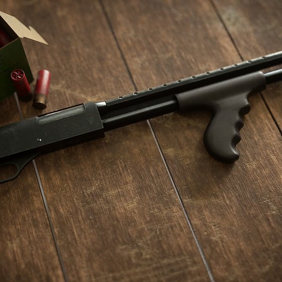 3D Mossberg 500 tactical with frontal pistol grip