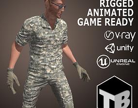 Male Soldier 3D asset