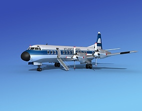 Lockheed L-188 Electra HP Atlantic Aero 3D