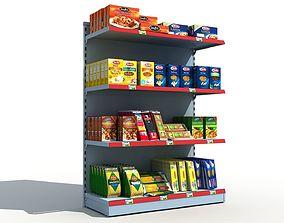 Supermarket Shelves Pasta 3D model