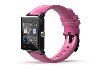 Sony Smart Watch 2 Pink 3D asset
