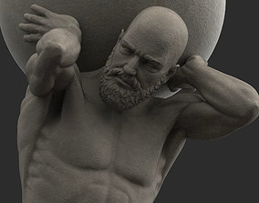 3D asset Atlas Statue