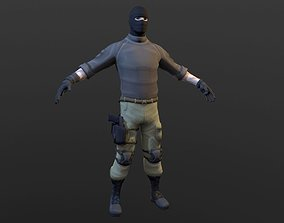 3D model animated Soldier