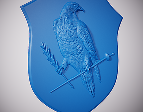 3D printable model Eagle on the shield
