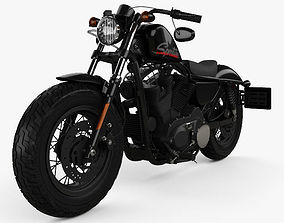 Harley-Davidson Sportster 1200 Forty-Eight 2013 3D
