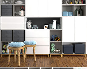 Large wardrobe with decor 3D