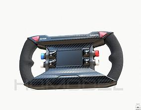Steer Wheel Future Sci Fi Concept PBR 3D model