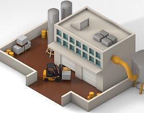 3D model rigged Garage