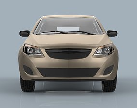 Hatchback car sport 3D