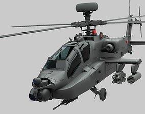 AH-64D Apache 3D model flight