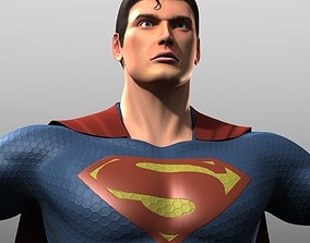 Man of Steel Costume 3D asset