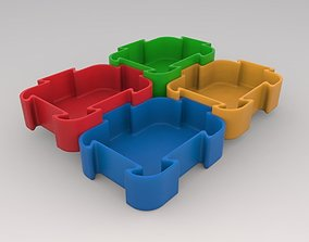 3D-Printable Puzzle Shaped Container