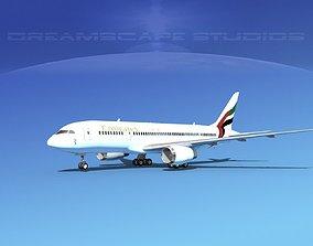 3D Boeing 787-8 Emirates