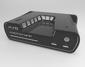 PS5 prototype of a game console 3d print model