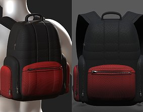 game-ready Backpack bag baggage Color 3d low poly Low-poly