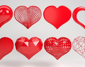 heart 3D love shape