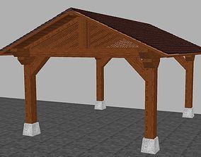 Wooden Arbour 3D