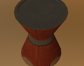 3D model low-poly Chair 05