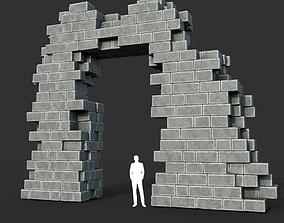 Low poly Ancient Roman Ruin Construction R2 - 3D model 1