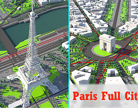 3D model Paris city